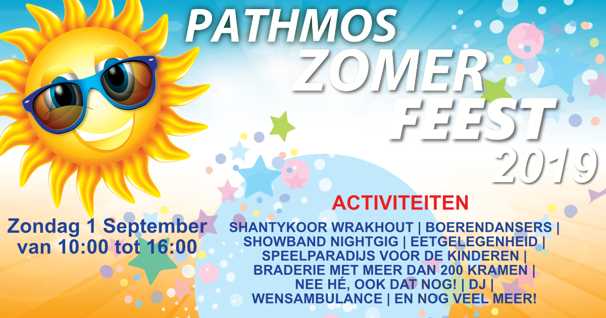 Pathmos Zomerfeest - 1 september 2019