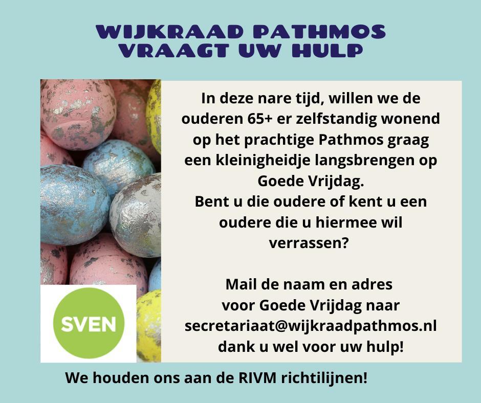 Wijkraad Pathmos vraagt uw hulp